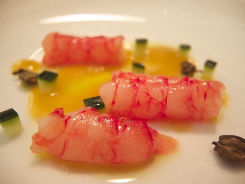 gambero rosso in salsa bernaise, Uliassi, Chef Mauro Uliassi, Senigallia