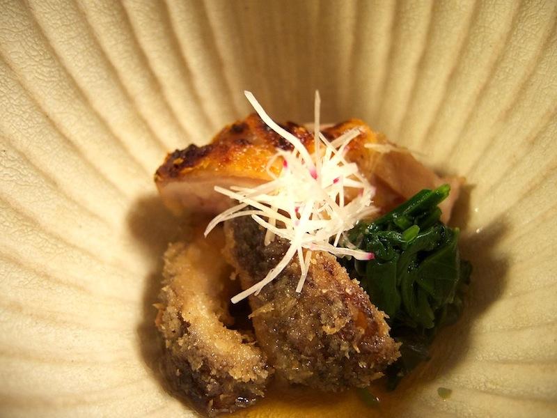 pollo e funghi, Kitcho, Chef Kunio Tokuoka, Cucina Kaiseki, Kyoto