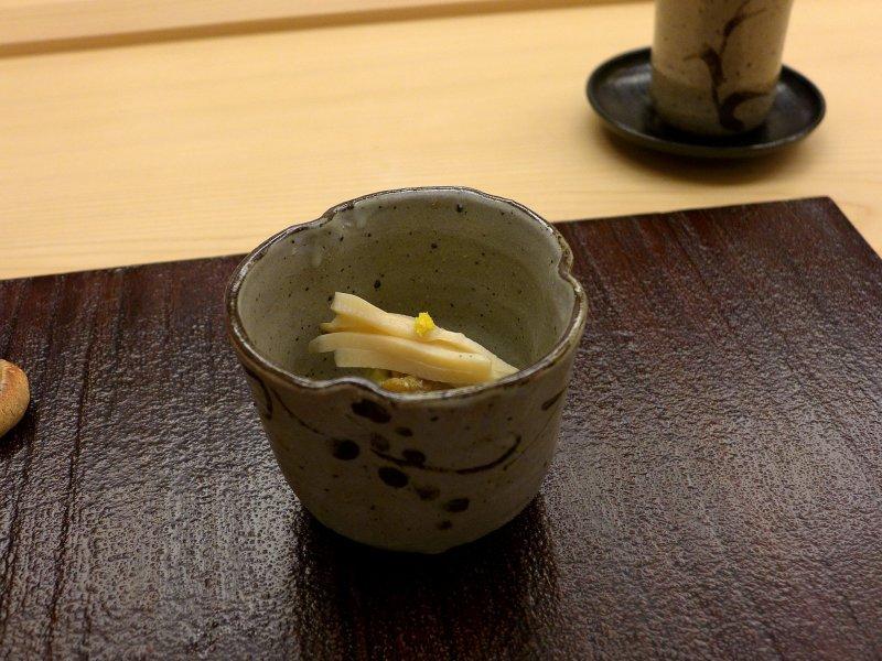 Abalone, pure di manzo, Koju, Chef Toro Okuda, Ginza, Tokyo