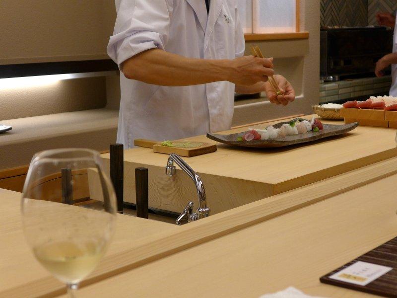 sashimi, Koju, Chef Toro Okuda, Ginza, Tokyo