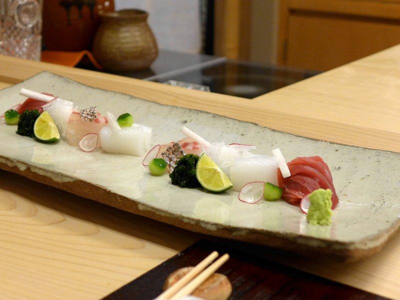 sashimi di tonno, Koju, Chef Toro Okuda, Ginza, Tokyo