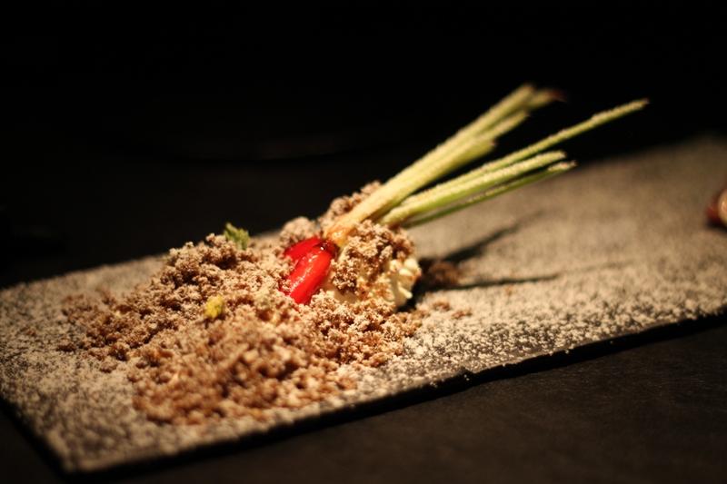 Toast and carrots, 41° Experience, Chef Albert Adrià, Sebastiàn Mazzola, Barcelona