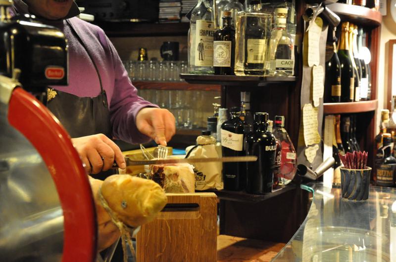 prosciutto taglio al coltello, Ai Rusteghi, bacari, Venezia