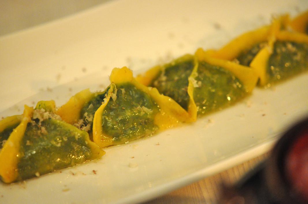 tortelli di ricotta e spinaci, El Coq, Chef Lorenzo Cogo, Marano Vicentino