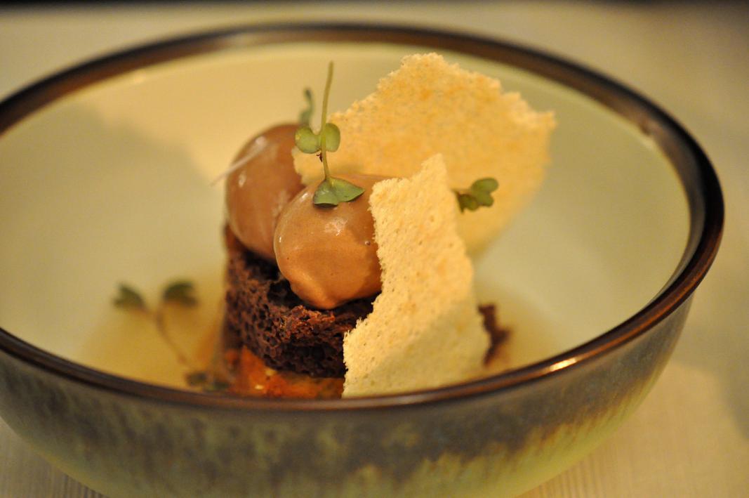 biscotto all'olio di oliva, El Coq, Chef Lorenzo Cogo, Marano Vicentino