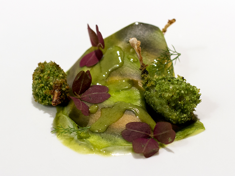 rane nello stagno, Osteria Francescana, Chef Massimo Bottura, Modena