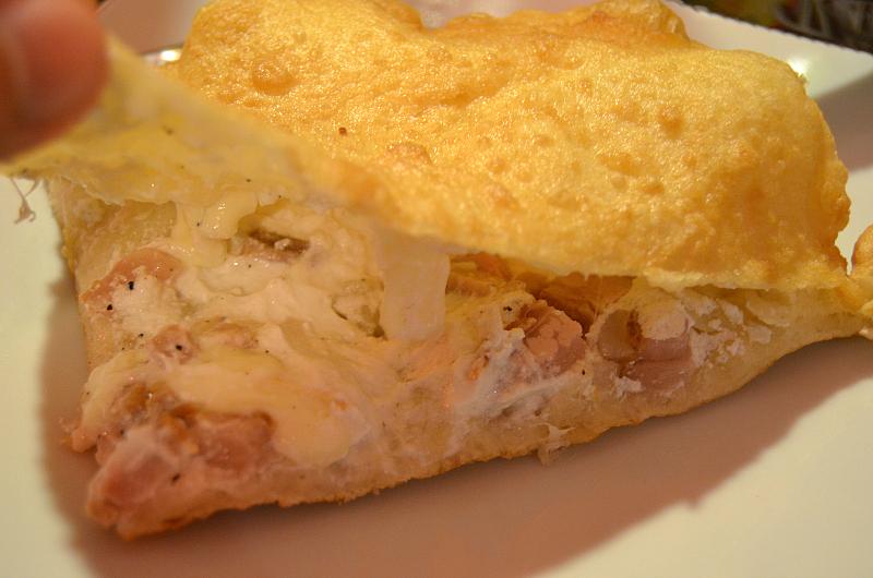 Pizza fritta, dettagli, Pizzeria 50 Kalò di Ciro Salvo, Napoli
