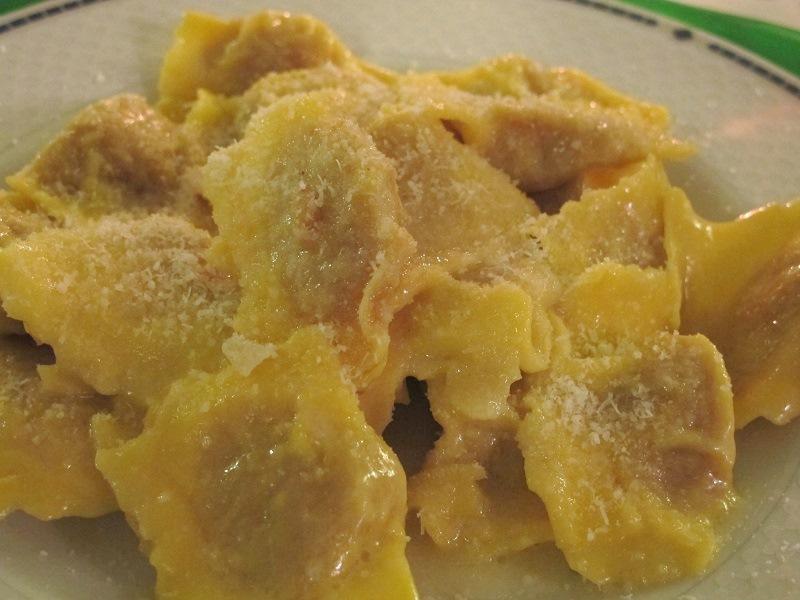 tortelli di zucca, Locanda delle Grazie, Chef Aldighieri, Curtatone