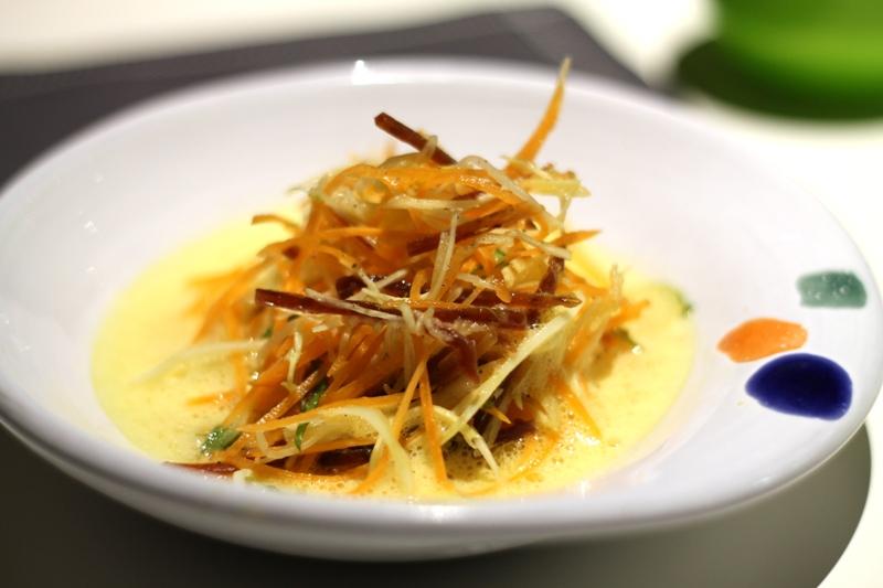 minestra di verdura, carote e finocchi, Aqua Crua, chef Baldessari, Barbarano Vicentino
