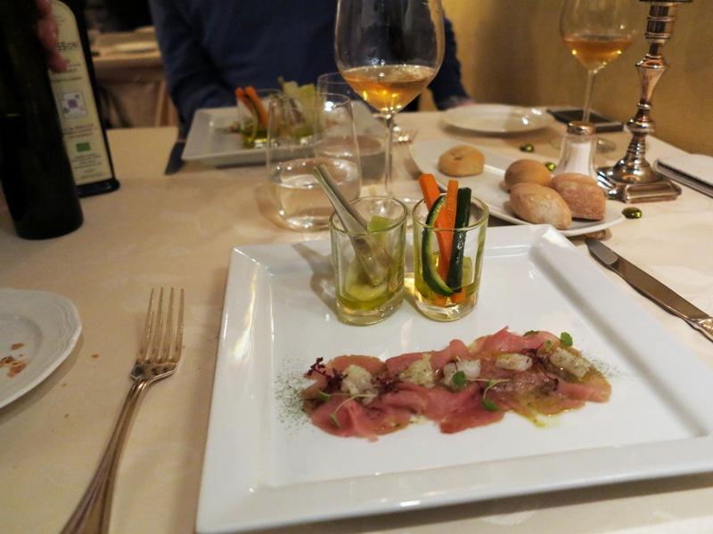 carpaccio di filetto, Tano passami l'olio, Chef Tano Simonato, Milano