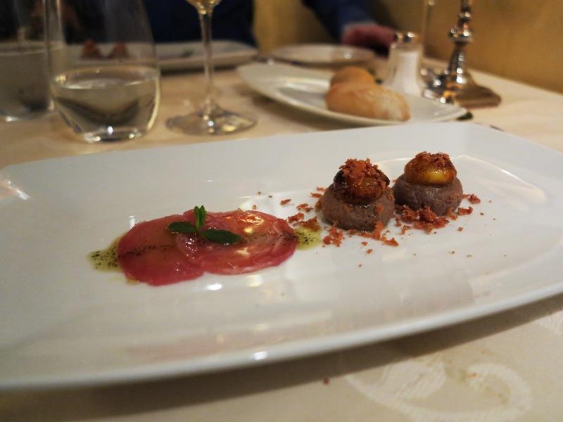 uova di quaglia su mousse di tonno, Tano passami l'olio, Chef Tano Simonato, Milano