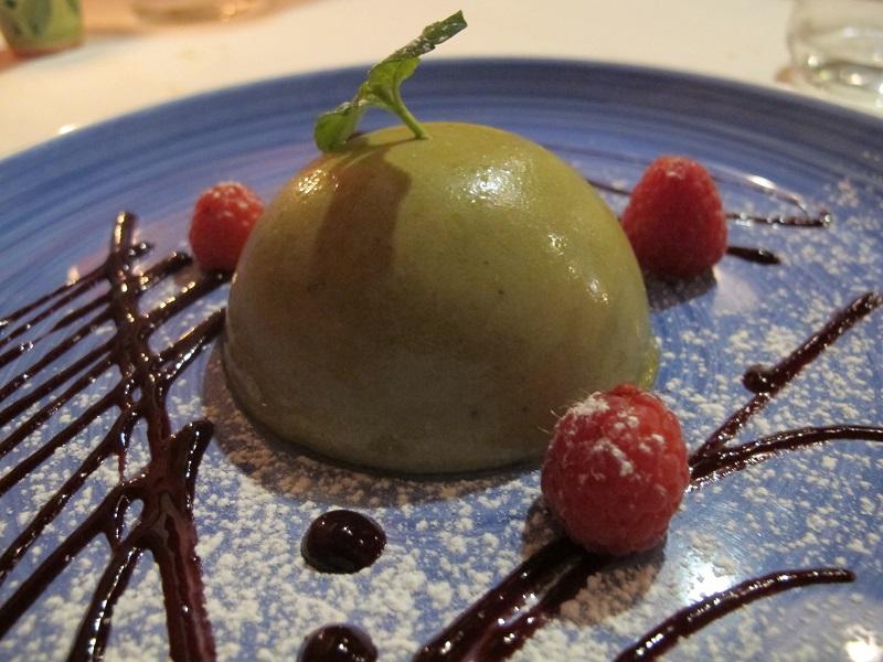 Semifreddo al pistacchio di Bronte, Oste Scuro, Chef Simone Lugoboni, Verona