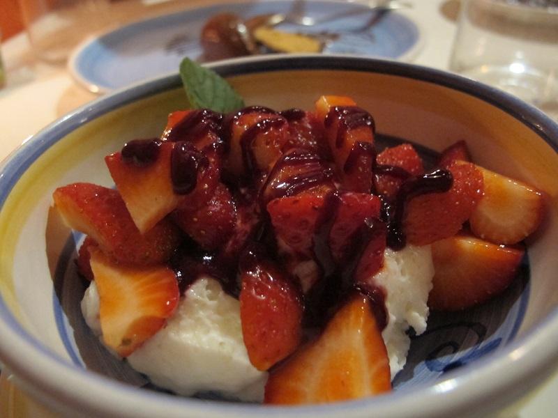Spuma di yogurt e fragole, Oste Scuro, Chef Simone Lugoboni, Verona