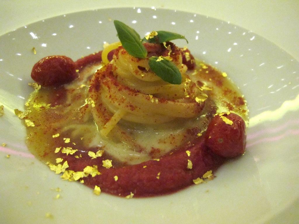 spaghetto verrigini,  Imàgo, Chef Francesco Apreda, Roma, Hotel Hassler
