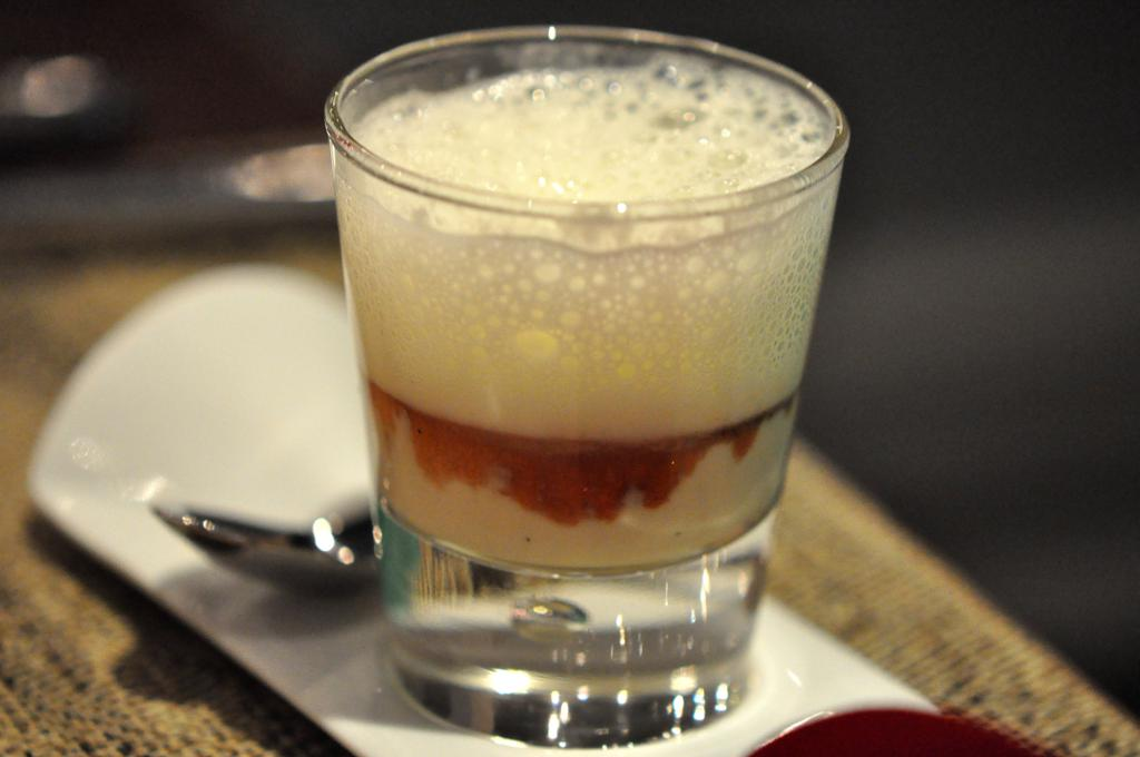 amuse bouche, foie gras e lampone, Joël Robuchon, Chef Christophe Cussac, Montecarlo, Principato di Monaco
