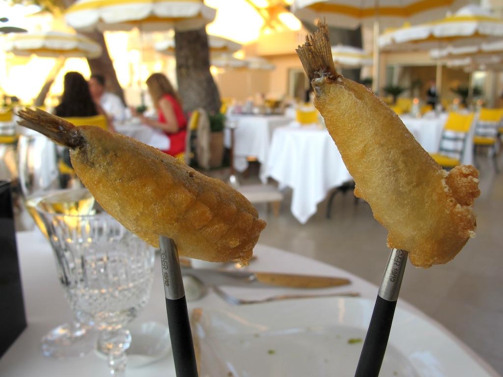 tempura di acciughe, La Vague d'Or, Chef Arnaud Donckele, Saint-Tropez