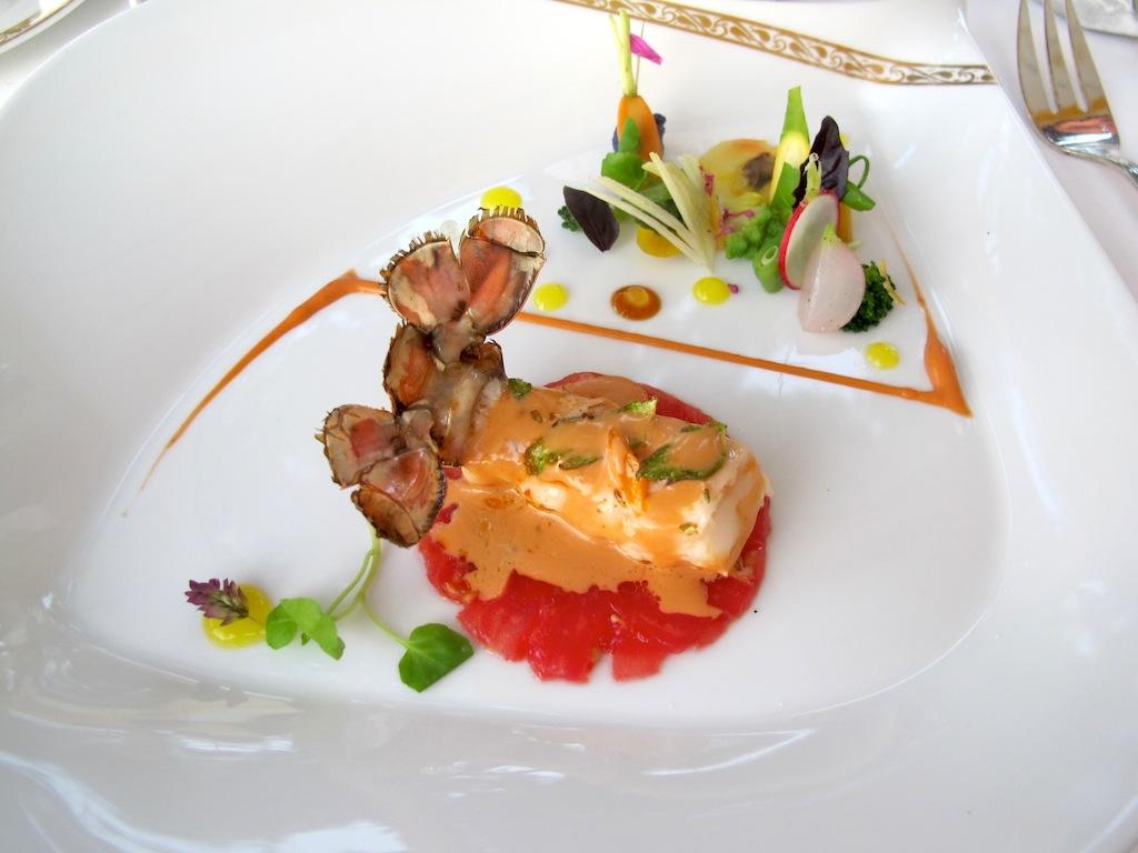 scampo arrosto, La Vague d'Or, Chef Arnaud Donckele, Saint-Tropez
