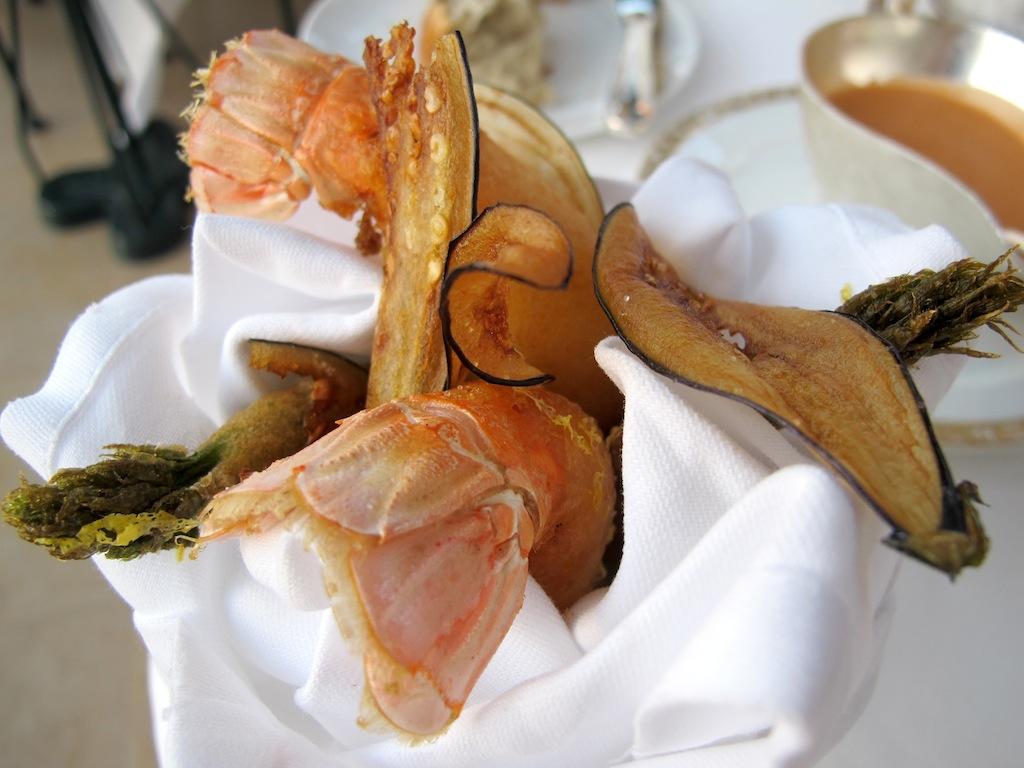tempura, La Vague d'Or, Chef Arnaud Donckele, Saint-Tropez