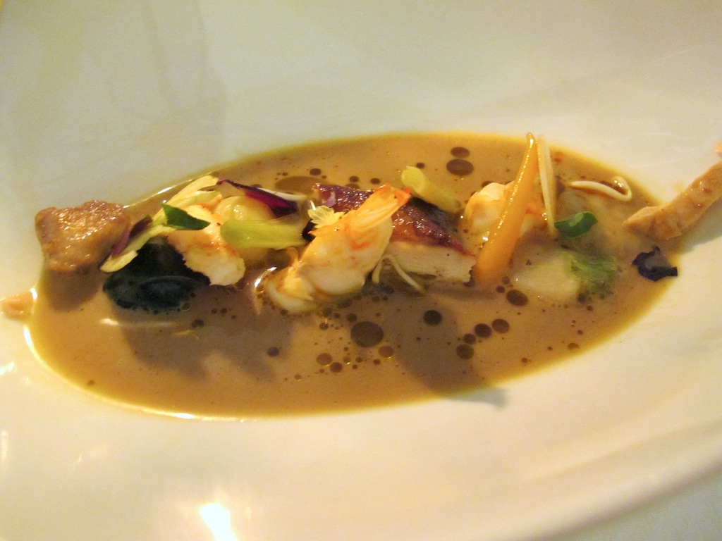 faraona e aragosta, La Vague d'Or, Chef Arnaud Donckele, Saint-Tropez