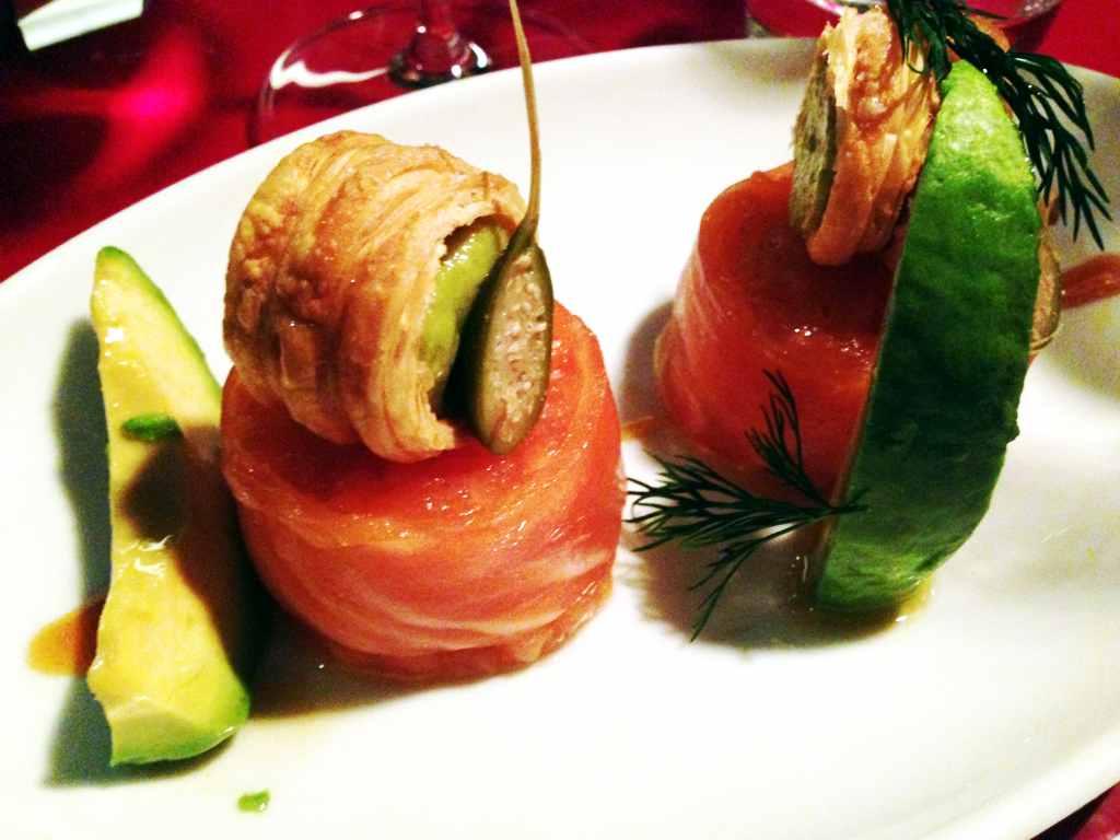 tartare di salmone, Ceresio 7, Chef Elio Sironi, Milano