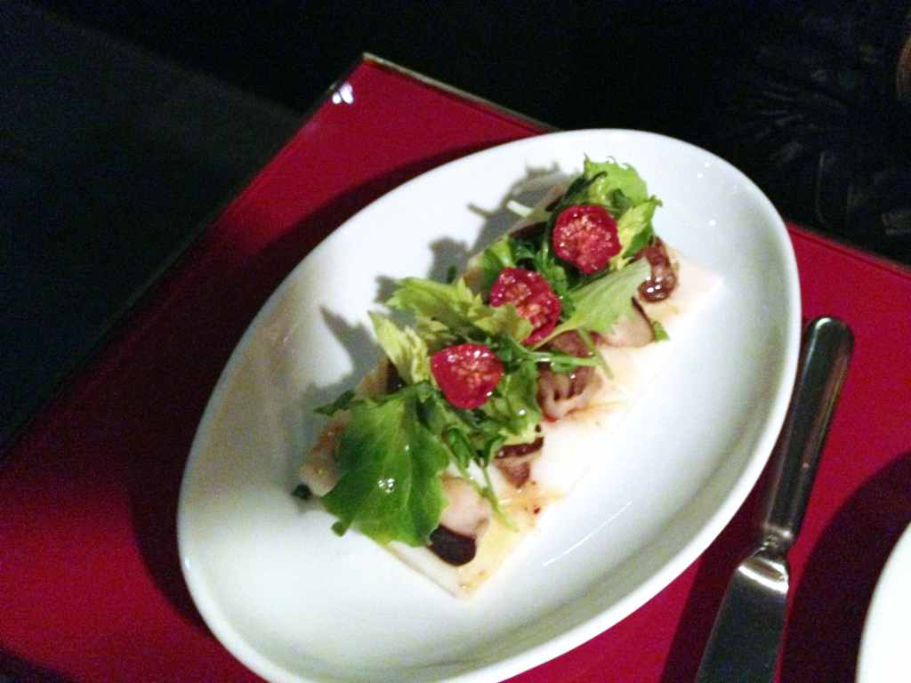 calamaro alla plancha, Ceresio 7, Chef Elio Sironi, Milano