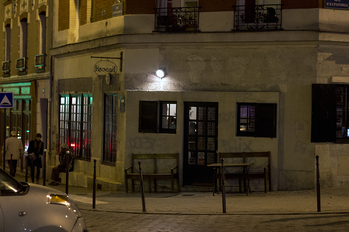 ingresso del locale, Roseval, Chef Simone Tondo, Paris