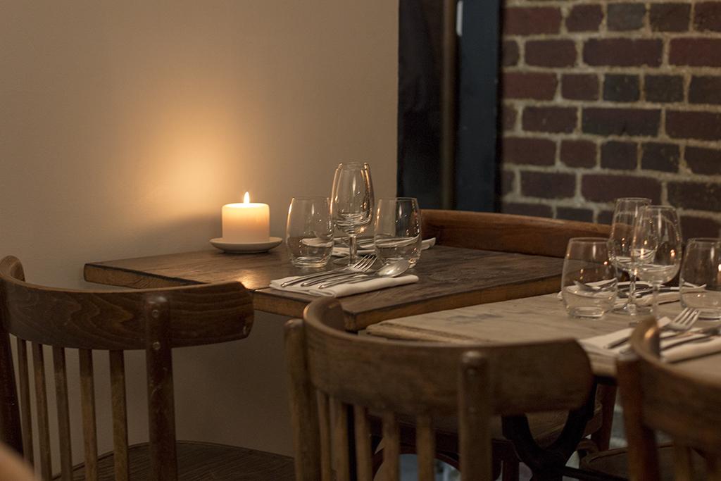 mise en place, Roseval, Chef Simone Tondo, Paris