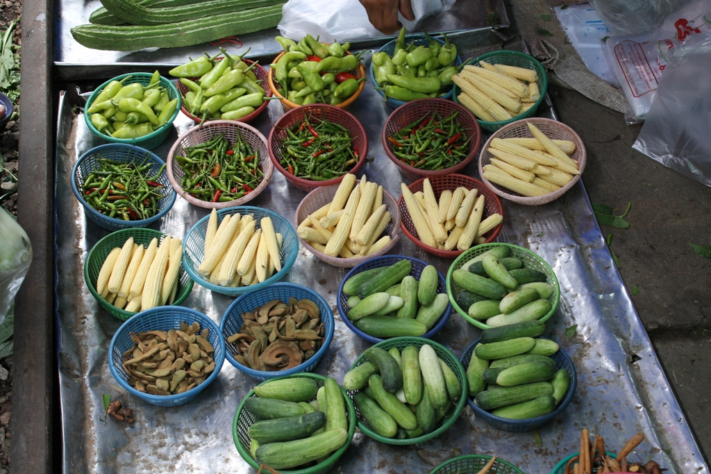 verdure locali, Thai Street Food, Thailandia, Bangkok