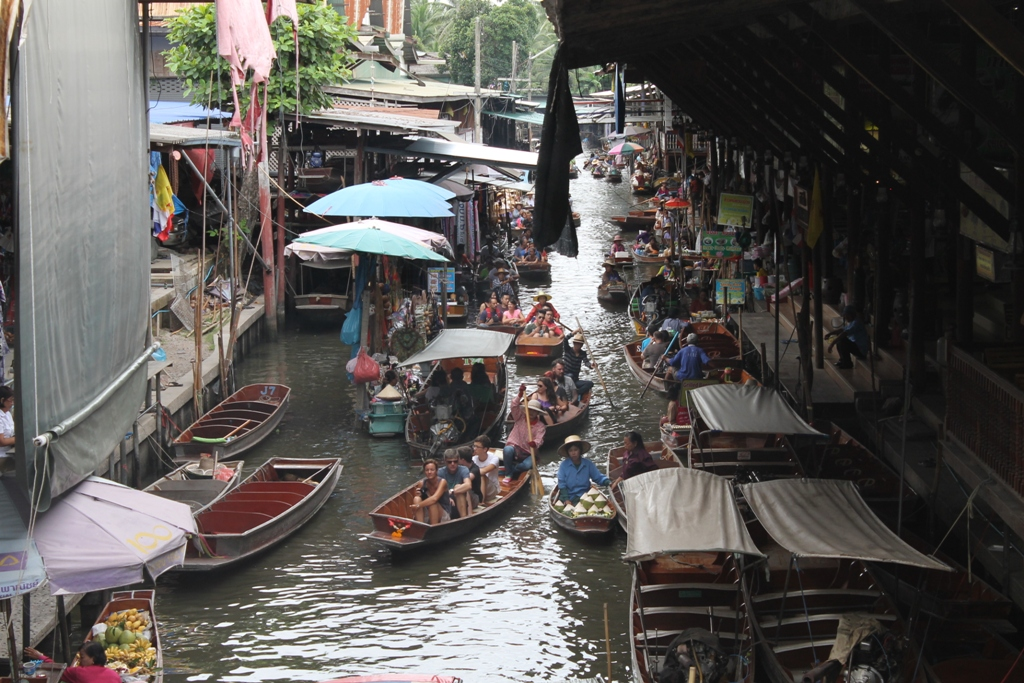 floating market, Thai Street Food, Thailandia, Bangkok