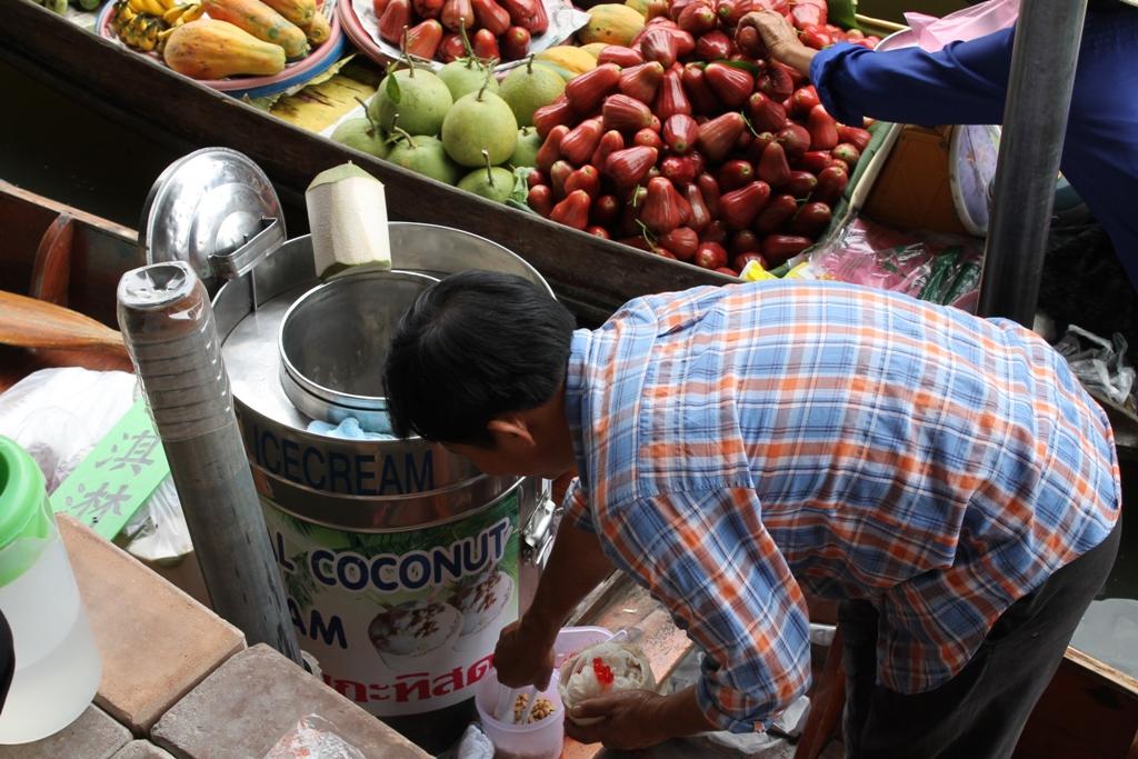 gelato al cocco, Thai Street Food, Thailandia, Bangkok