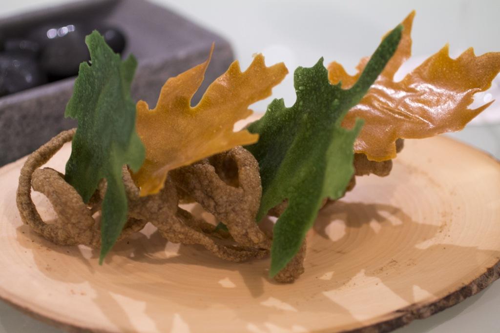 cialda di polvere di funghi, Quique Dacosta, Denia, Spagna