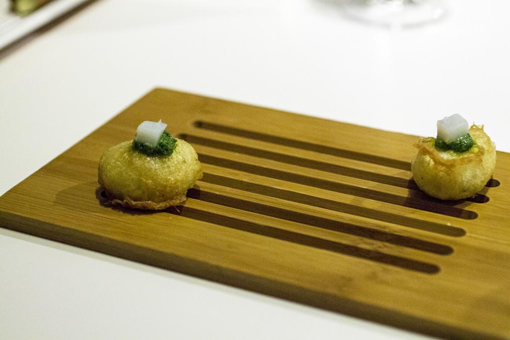 frittella leggera di baccalà, Quique Dacosta, Denia, Spagna