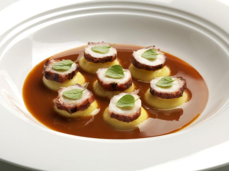 Bottoni olio e lime, con polpo e salsa cacciucco: Enrico Bartolini, Severo, Passione Gourmet