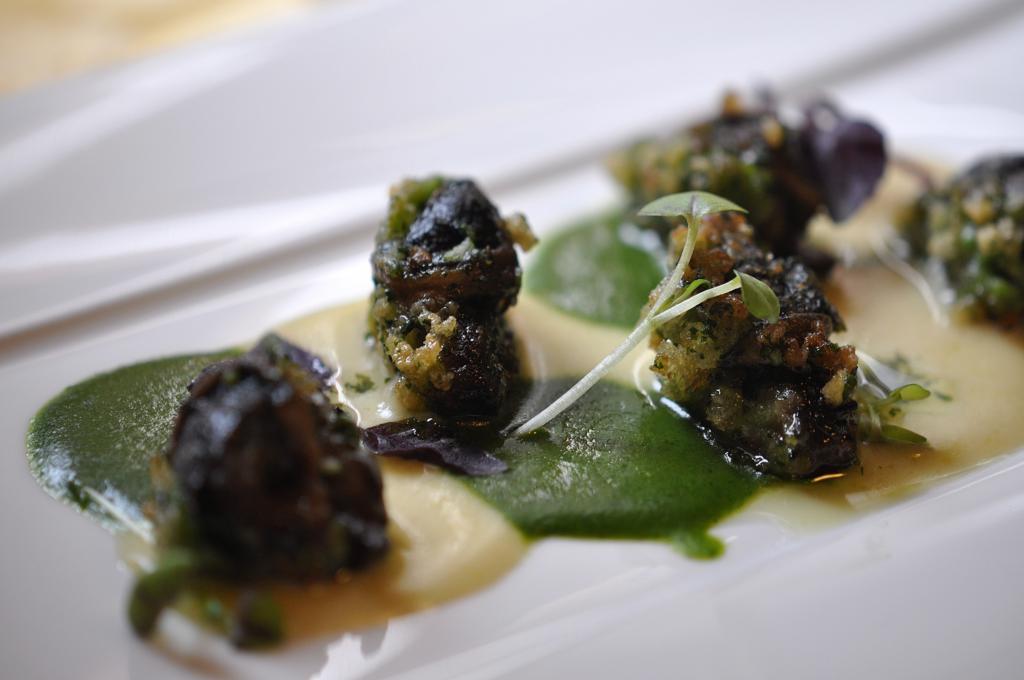 lumache croccanti e salsa all'aglio, Locanda San Lorenzo, Chef Renzo Dal Farra, Puos D'Alpago