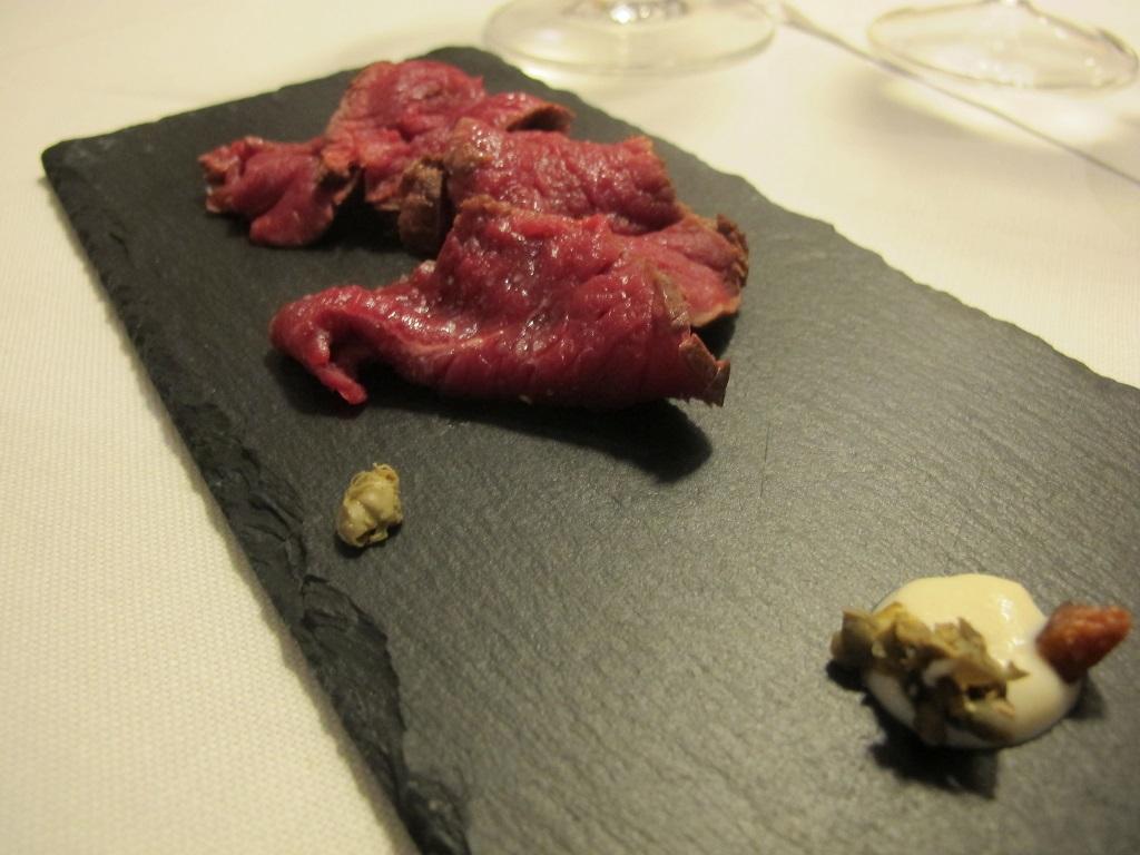 Cervo affumicato, L'Erba del Re, Chef Luca Marchini, Modena