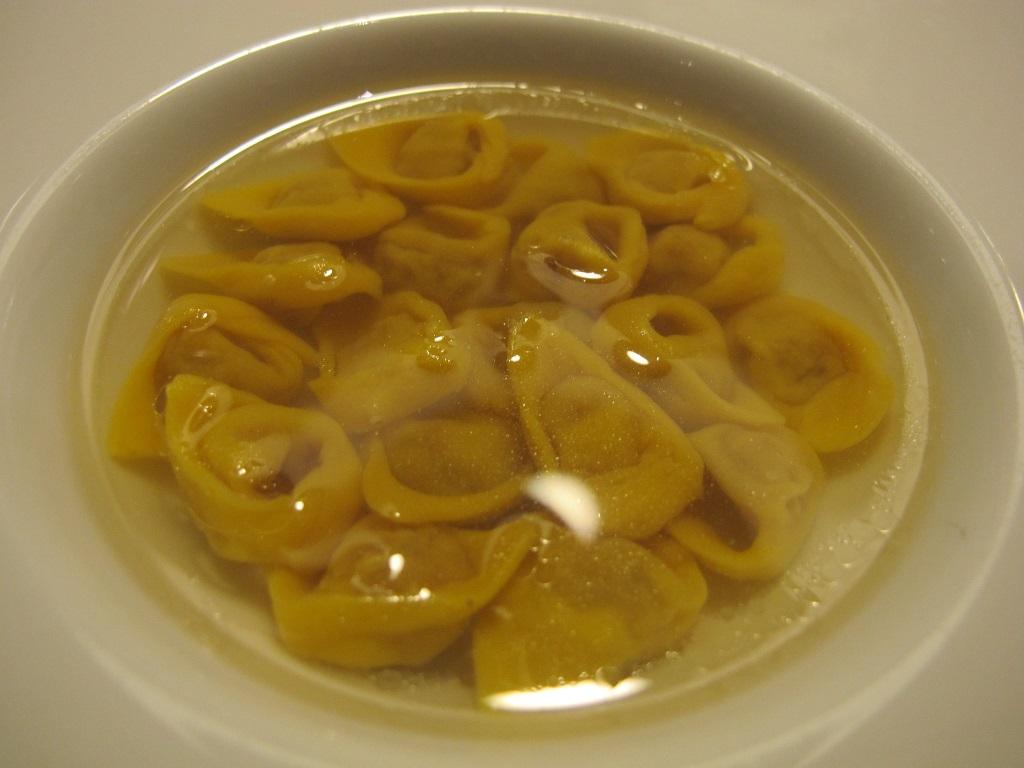 Tortellini in brodo di cappone, L'Erba del Re, Chef Luca Marchini, Modena