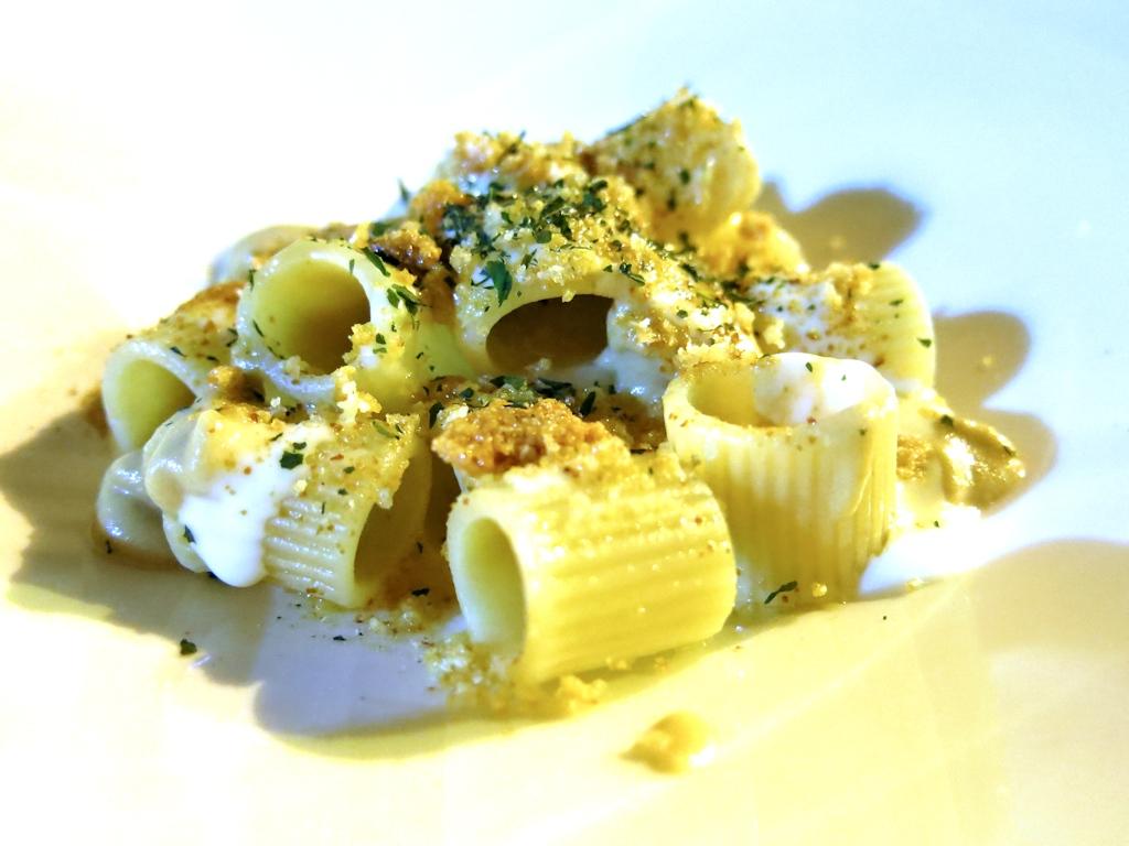 mezze maniche al pecorino, Accursio, Chef Accursio Craparo, Modica, Sicilia