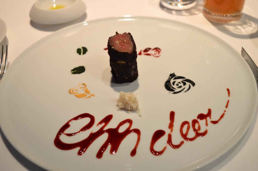 cervo e foie gras, Osteria Francescana, Chef Massimo Buttura, Modena