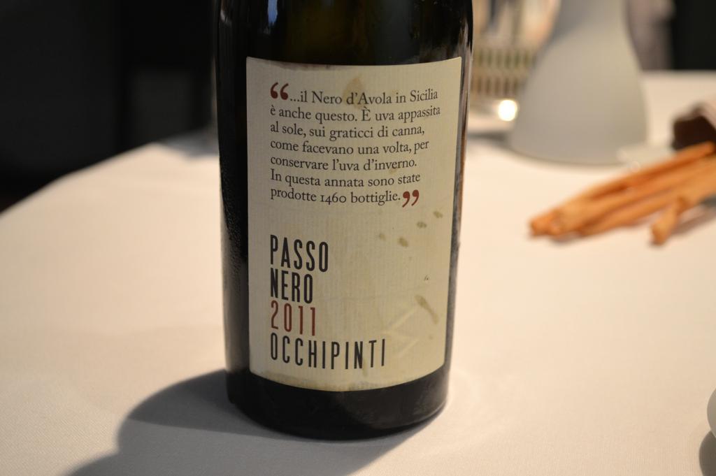 passo nero, occhipinti, Osteria Francescana, Chef Massimo Buttura, Modena