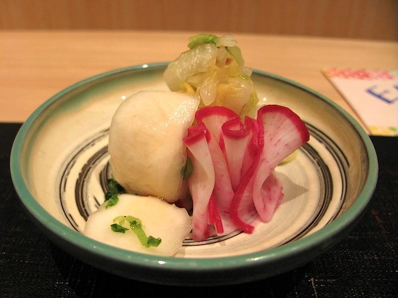 pickles, Jimbocho Den, Chef Zaiyu Hasegawa, Chiyoda-ku, Tokyo