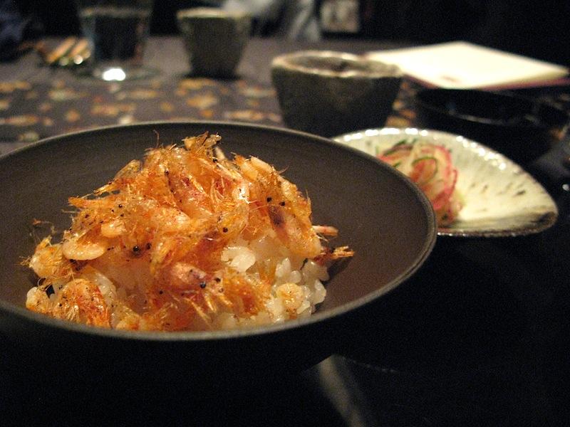 riso cotto in tè di fiori, Ryugin, Chef Seiji Yamamoto, Tokyo