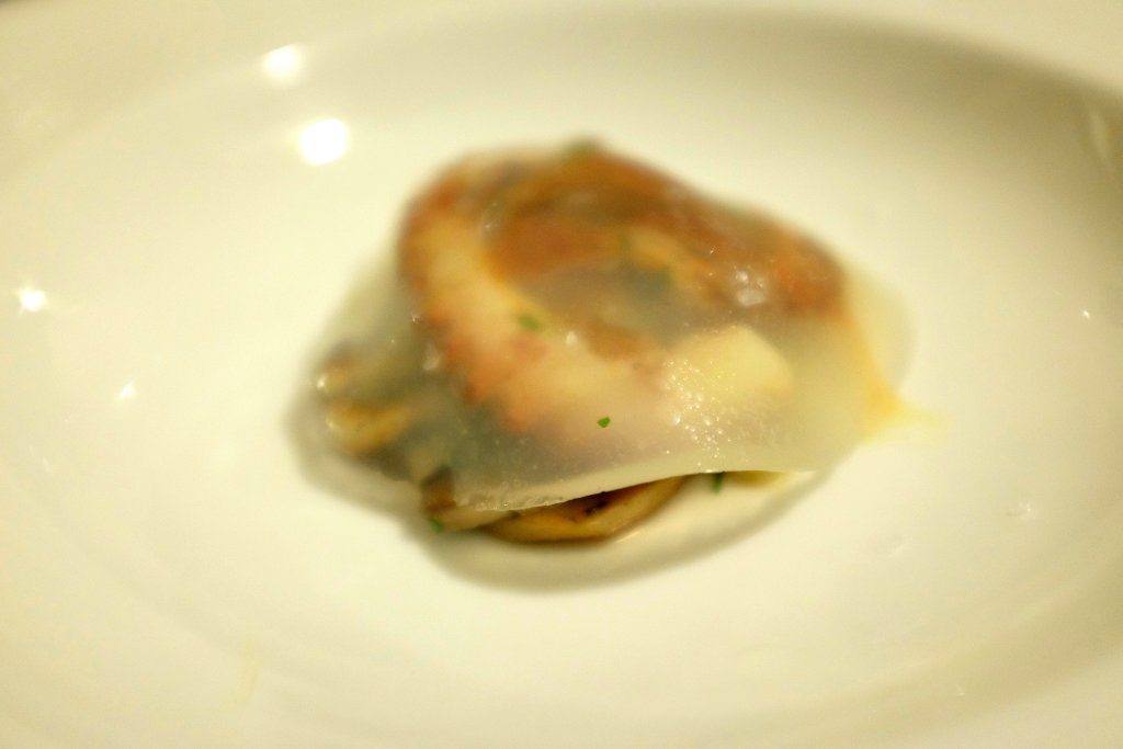 Funghi polpo e trippa, Duomo, Chef Ciccio Sultano, Ragusa Ibla