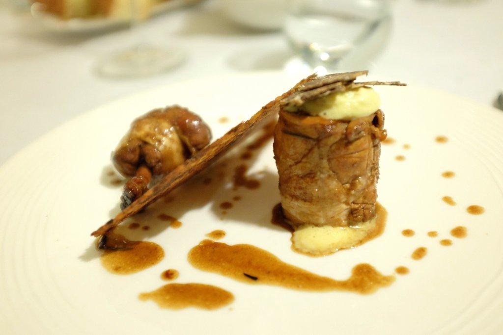 pollo farcita di crema di mais, Duomo, Chef Ciccio Sultano, Ragusa Ibla