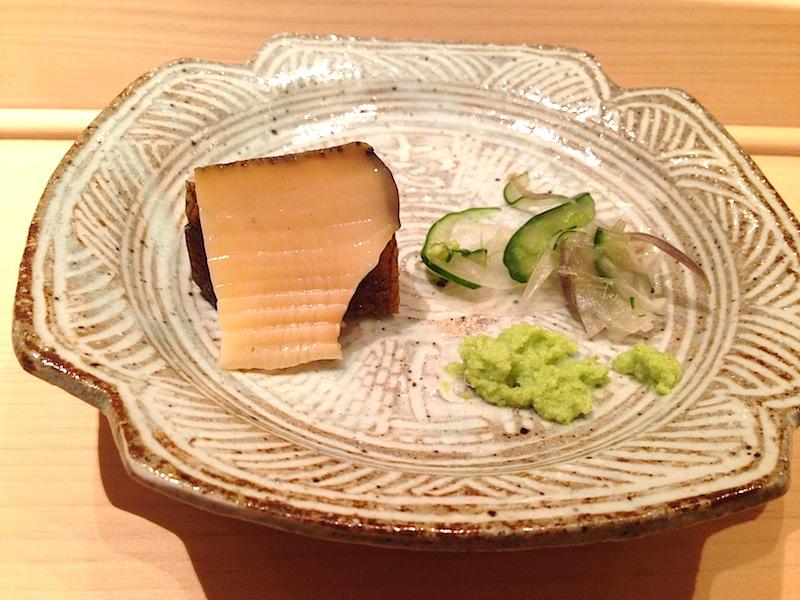 abalone, Sushi Yoshitake, Chef Masahiro Yoshitake, Tokyo