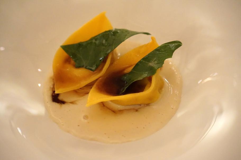 ravioli di coniglio, I Portici, Chef Agostino Iacobucci, Bologna
