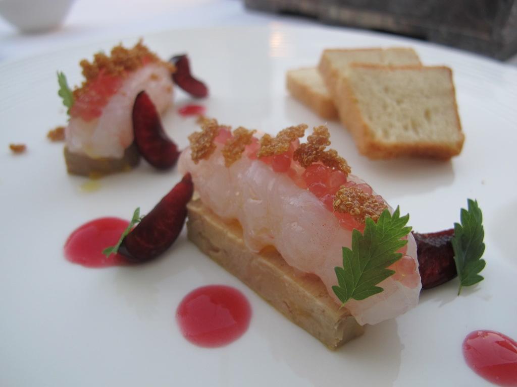 Scambio e foie gras, La Magnolia, Chef Cristoforo Trapani, Forte dei Marmi