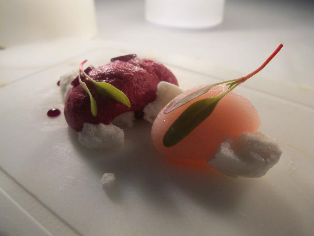 mousse di barbabietola, La Magnolia, Chef Cristoforo Trapani, Forte dei Marmi