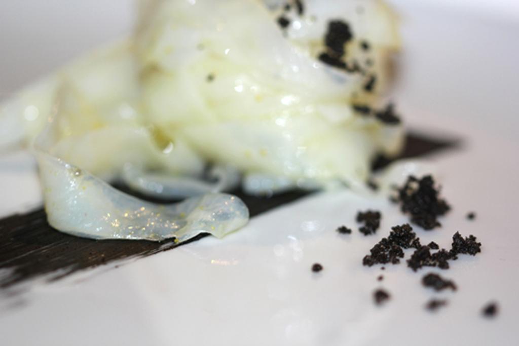 Fettuccine di seppia, Antica Osteria Nonna Rosa, Chef Peppe Guida, Vico Equense