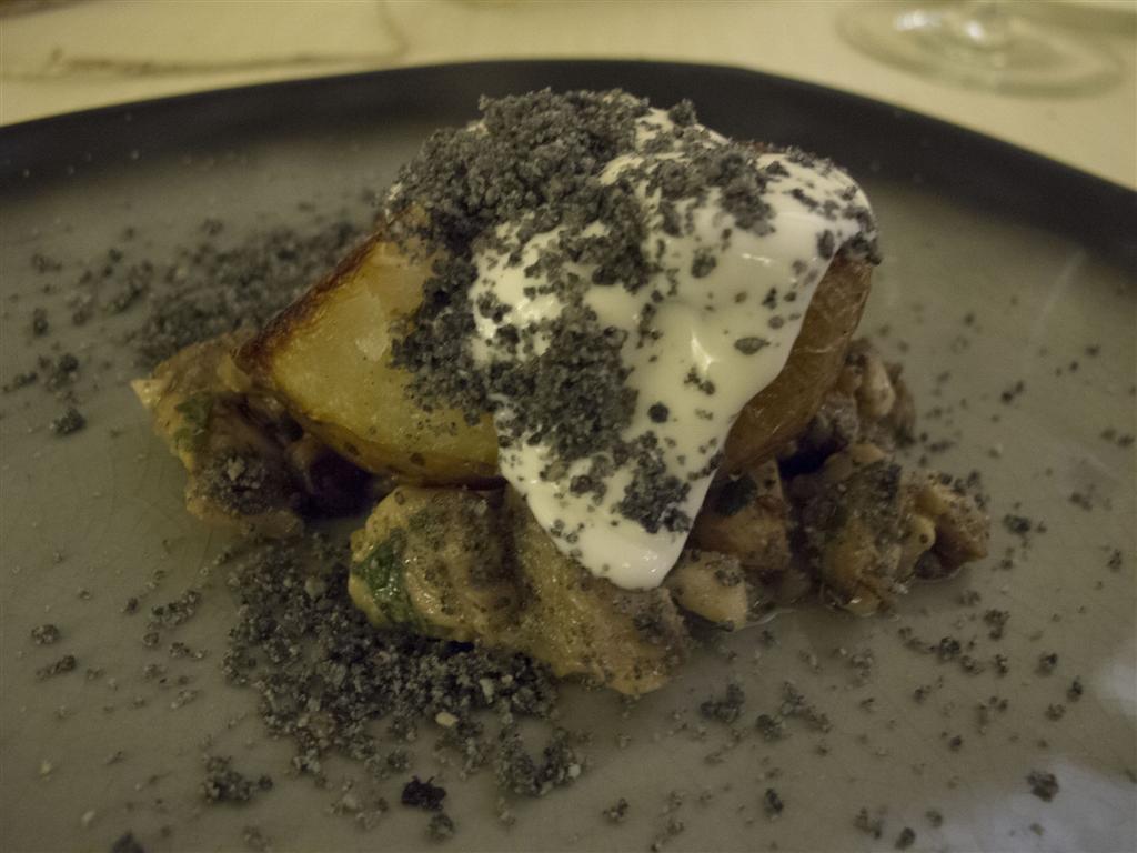 patata sotto la cenere,  Il Tiglio, Chef Enrico Lazzaroni, Montemonaco