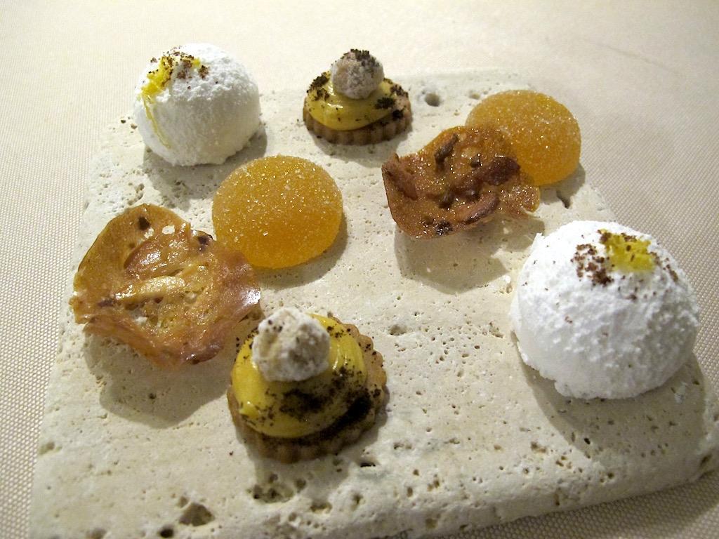 petit fours, Le Giare, Chef Gianluca Gorini, Montenovo di Montiano